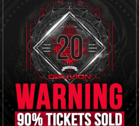 20 Years Of Oblivion - SATURDAY 30.10.21 - Manchester (UK) - Halloween Special